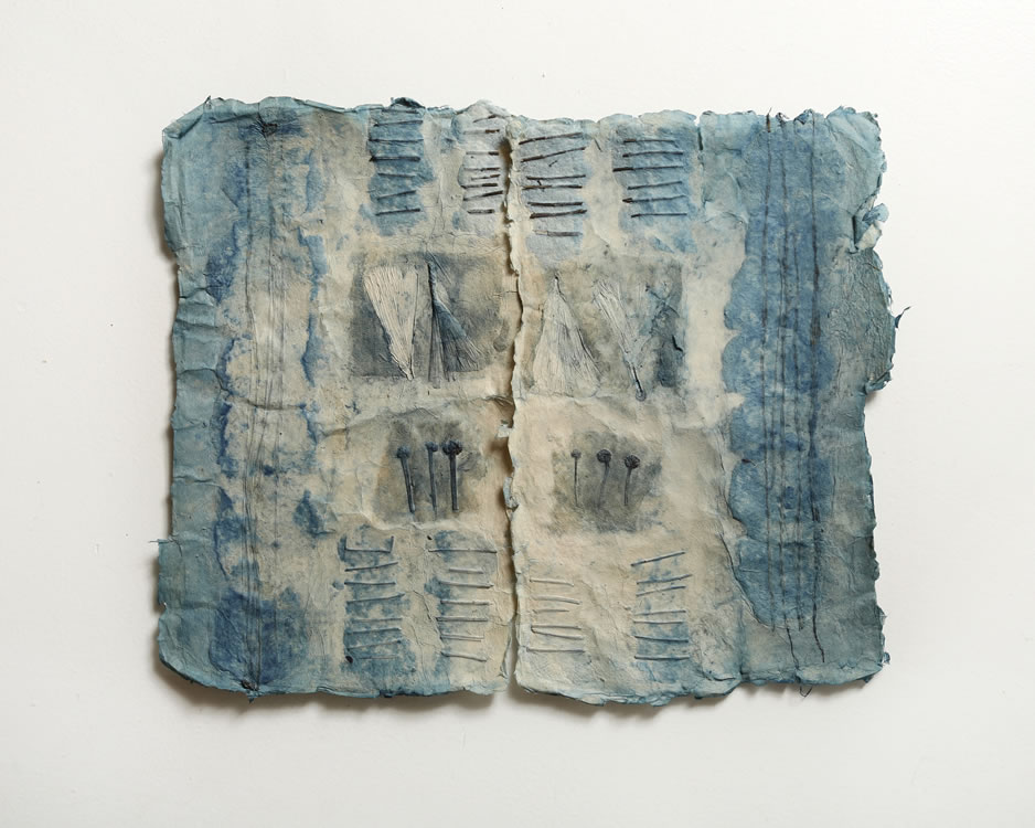Blue Herbarium – Handmade paper, indigo dye